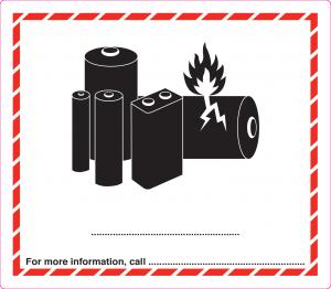 Caution Lithium Battery Labels